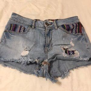 Booty shorts.